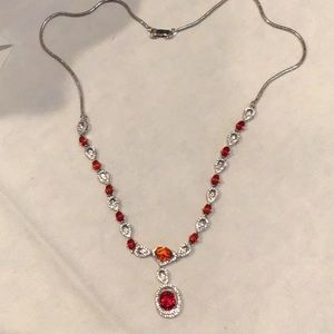 Jewelry - Faux Ruby and pave CZ in 925sterling silver